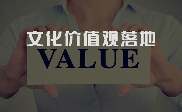 价值观落地,文化价值观,企业价值观落地,文化落地